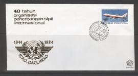 INDONESIË 1984 FDC 164 VLIEGTUIG