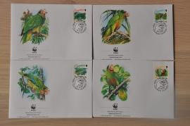200 ++ FDC WWF WNF WERELD NATUUR FONDS ++ CAYMAN ISLANDS PAPEGAAI