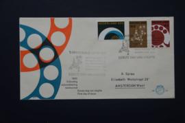 NEDERLAND 1962 FDC E52 GETYPT OPEN KLEP ++ VOORBEELD SCAN