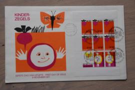 1971 NEDERLAND NVPH FDC KINDERZEGELS BLOK 1001