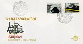 NEDERLAND 1964 FDC E65 OPEN KLEP ++ VOORBEELD SCAN