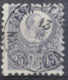 HONGARIJE 1871 MCHL 6 GEBRUIKT ++ L 98