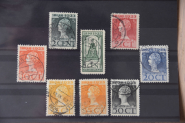 NEDERLAND 1923 NVPH 121-128 GESTEMPELD ++ A 439