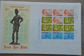 1966 NEDERLAND NVPH FDC KINDERZEGELS BLOK 875 'S-GRAVENHAGE