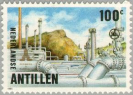ANTILLEN 1990 NVPH SERIE 958 OLIE OIL