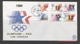 INDONESIË 1984 FDC 158 OLYMPISCHE SPELEN