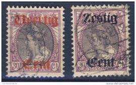 NEDERLAND 1919 NVPH 102-03 GESTEMPELD ++ J 28
