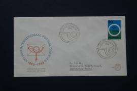 NEDERLAND 1963 FDC E57 GETYPT OPEN KLEP ++ VOORBEELD SCAN