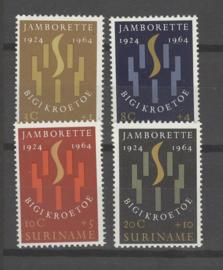 SURINAME POSTFRIS NVPH 410-13 JAMBOREE