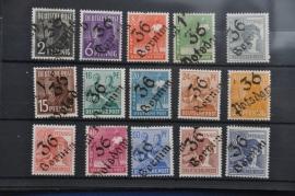 1938 MCHL 166-181 ZONDER 179 BEZIRK 36 POSTFRIS ++ M 050
