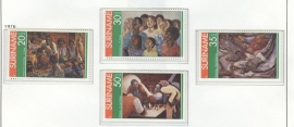 REP. SURINAME 1976 ZBL SERIE 037 SCHILDERS PAINTERS