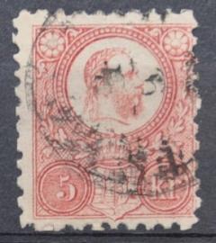 HONGARIJE 1871 MCHL 3(2) GEBRUIKT ++ L 98