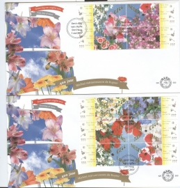 NEDERLAND NVPH FDC E550 BLOEMEN FLOWERS