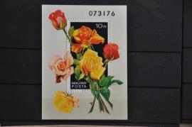 HONGARIJE 1982 MCHL BLOK 156A  BLOEMEN ++ L 69