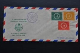 ANTILLEN 1957 FDC GESLOTEN