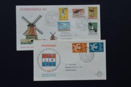 FDC JAARGANG 1961 COMPLEET GEBRUIKT. CAT 41€