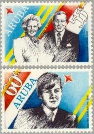 ARUBA 1987 NVPH SERIE 22 BEZOEK ARUBA