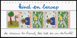 NEDERLAND 1987 NVPH SERIE 1390 KINDERZEGELS