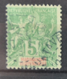 P 251 ++ MADAGASCAR 1902 CANCELLED USED