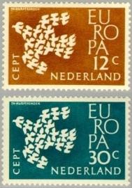 NEDERLAND 1961 NVPH SERIE 757 EUROPA CEPT