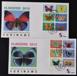 REP. SURINAME ZBL FDC E 381 AB VLINDERS