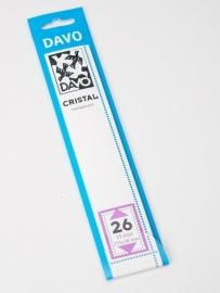 DAVO CRISTAL STROKEN MOUNTS C26 (215 x 30) 25 STK/PCS