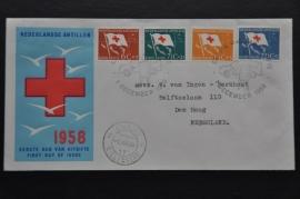 ANTILLEN 1958 FDC E8 OPEN