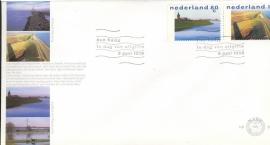 NEDERLAND NVPH FDC E386 WATER