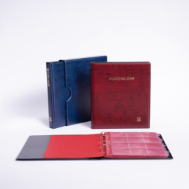 POPULAIR de Luxe  Gewatteerd Album incl. Cassette, met goudopdruk, incl. 5 muntbladen en rode schutbladen