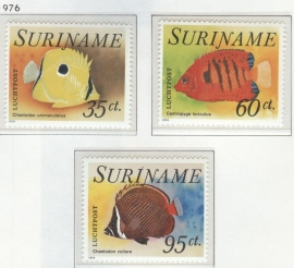 REP. SURINAME 1976 ZBL SERIE 032 VISSEN FISHES