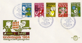 NEDERLAND 1964 FDC E69 OPEN KLEP ++ VOORBEELD SCAN