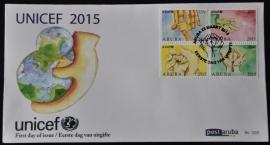 ARUBA 2015 FDC E 205 UNICEF