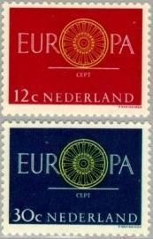 NEDERLAND 1960 NVPH SERIE 745 EUROPA CEPT