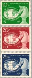 ANTILLEN 1962 NVPH SERIE 330 SCHAAK CHESS