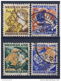 NEDERLAND 1932 NVPH 248-251 GEBRUIKT ++ 280