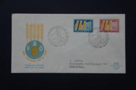 NEDERLAND 1963 FDC E55 GETYPT OPEN KLEP ++ VOORBEELD SCAN
