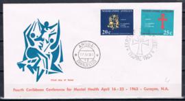 ANTILLEN 1963 FDC E 24B