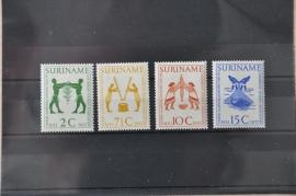 1955 NVPH 317-320  ++ M 038