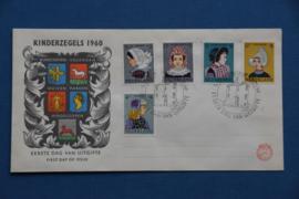 NEDERLAND 1960 FDC 46 OPEN KLEP
