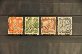 NEDERLAND 1930 NVPH R 86-89 GESTEMPELD ++ J 9