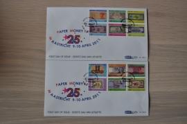 ARUBA 2011 FDC E 166AB PAPIER GELD PAPER MONEY