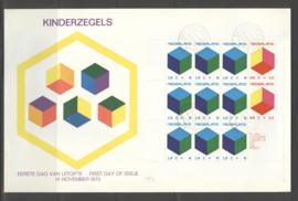 1970 NEDERLAND NVPH FDC KINDERZEGELS BLOK 983