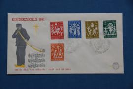 NEDERLAND 1961 FDC 49 OPEN KLEP