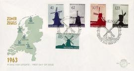 NEDERLAND 1963 FDC E56 OPEN KLEP ++ VOORBEELD SCAN