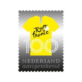 NEDERLAND ZILVEREN ZEGEL TOUR DE FRANCE  LIMITED EDITION