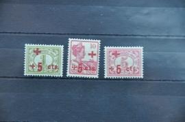 NED. INDIË 1915 NVPH 135-137  ++ Q 253