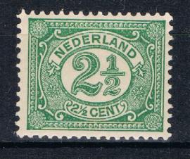 NEDERLAND 1899 NVPH 55 PLAK(REST) ++ K 132