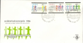 ARUBA 1986 FDC E 004 SOLIDARITEIT