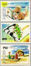 ARUBA 1987 NVPH SERIE 34 KINDERZEGELS