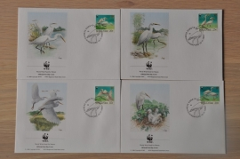 202 ++ FDC WWF WNF WERELD NATUUR FONDS ++ SINGAPORE VOGELS BIRDS